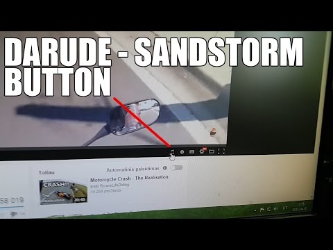 Youtube Added a Darude - Sandstorm button to their player