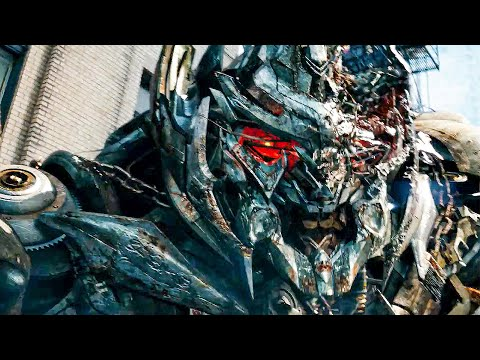 Fight For The Pillar Scene - TRANSFORMERS 3: DARK OF THE MOON (2011) Movie Clip