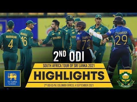 2nd ODI Highlights | Sri Lanka vs South Africa 2021