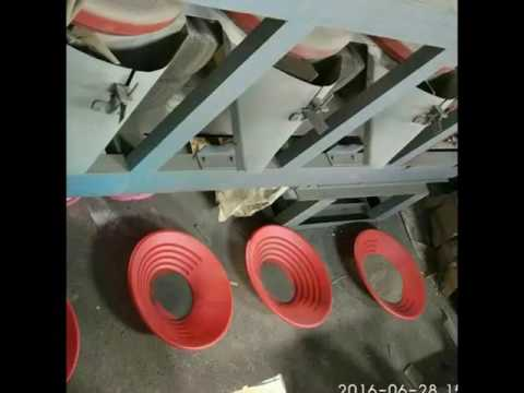 High efficient cross belt magnetic separator for coltan concentrate refining