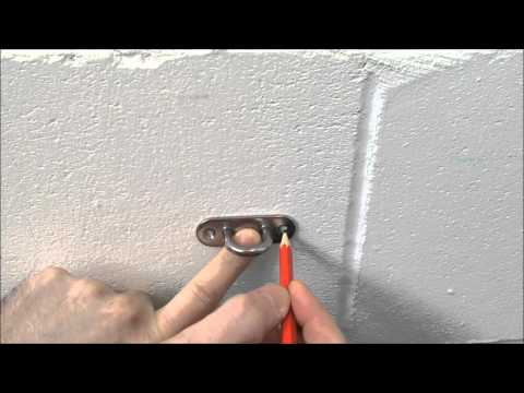 How to Install your eye-plate onto a Masonry or stud wall