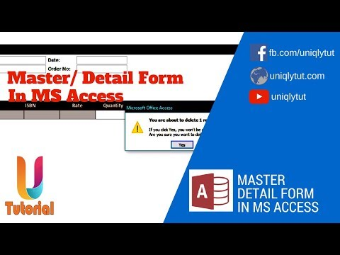 Use Master Details Form In MS Access | Create Purchase Order | Sales Order