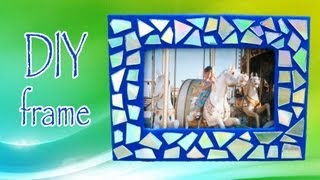 DIY ROOM DECOR ❤ Make a mosaic frame with old CDs! - YouTube