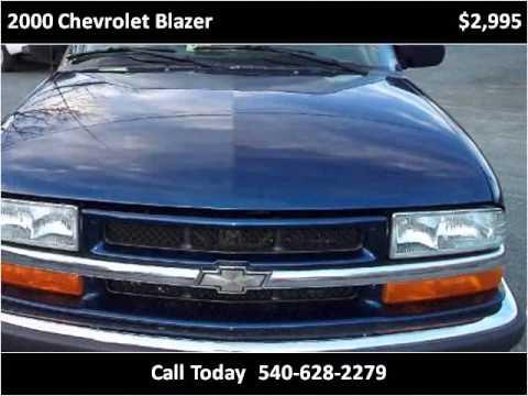 2000 Chevrolet Blazer Used Cars Stafford VA