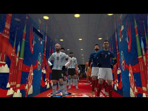 PES 2018 PSP (PPSSPP / IOS / ANDROID) France Vs Argentina - World Cup 2018 (1/8 FINAL)