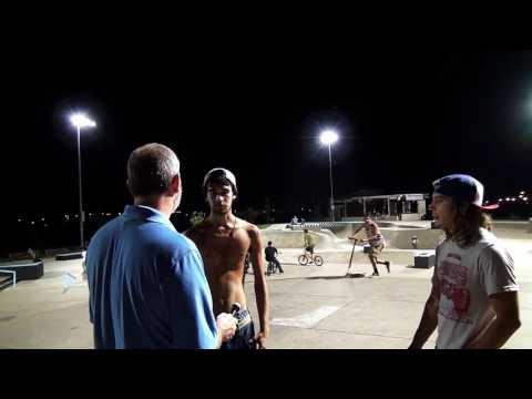 Elder Nick Rolland preaches the Gospel at Davenport Skatepark
