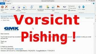 gmx login GMX Phishing Mail Im Umlauf - Vorsicht !!
