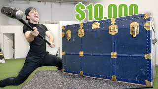 Video BREAKING INTO A $10,000 GIANT MYSTERY CHEST!! (Buying $10,000 Lost Luggage Mystery Auction) MP3, 3GP, MP4, WEBM, AVI, FLV Agustus 2019