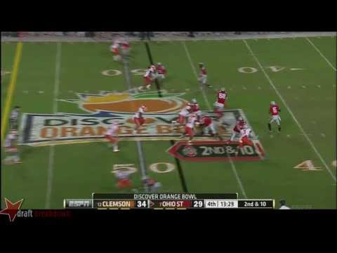 Taylor Decker vs Clemson 2014 video.