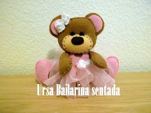 feltro - come realizzare un'orsetta ballerina