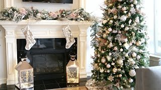 DECORATE WITH ME! DIY CHRISTMAS GARLAND | ALEX GARZA