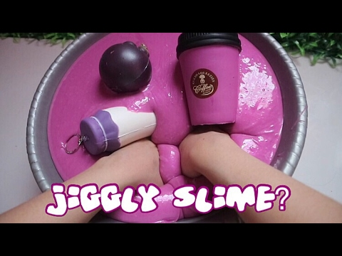 JIGGLY SLIME hmm ?THE BIG MAGIC MIXING - SLIME COLLECTION SUPER GLOSSY NO FLOAM UPDATE #4