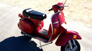5. 1986 Vespa PX 150 Engine Start