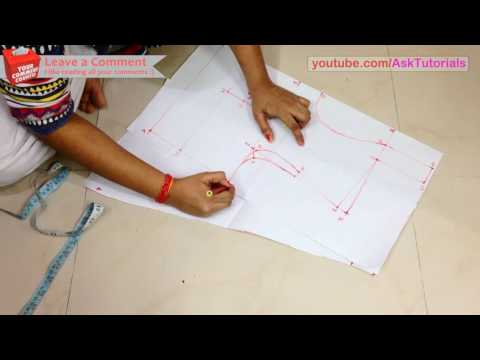 Video High Collar Neck Blouse Cutting and Stitching - Part 1 - Drafting | in Hindi download in MP3, 3GP, MP4, WEBM, AVI, FLV January 2017