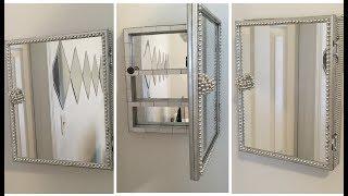 Dollar Tree DIY || Mirrored Storage Box/Wall Cabinet