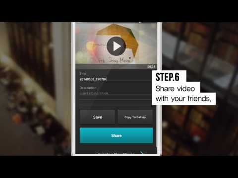 Video of SnapMovie (road movie maker)
