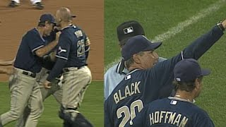 5/31/07: Bud Black gets ejected arguing the overturned call originally ruled a home run Check out http://MLB.com/video for more!
