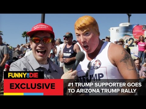 #1 Trump Supporter Goes To Arizona Trump Rally
