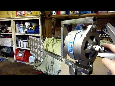 540 - This little film shows the making of a wind turbine that is based around a WindBlue DC-540 PMA. The turbine was made in two days using some great tools and w...