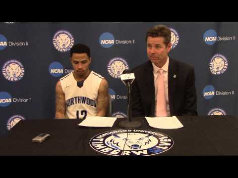 Northwood University Men's Basketball (2/12/15) NU 79, Ferris State 66 - Press Conference