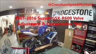 9. Suzuki GSXR 600 Valve Adjustment - Full Length