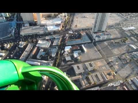 X Scream - Las Vegas Stratosphere Tower ride X-Scream which is similar to a giant teeter-totter, 866 feet above the ground, that propels riders out and down-ward over t...