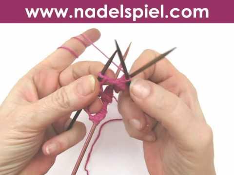 Stricken lernen * Nadelspiel * Lücken vermeiden