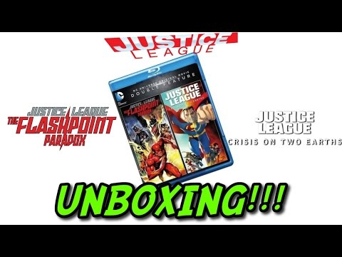 Justice League Double Feature: The Flashpoint Paradox / Crisis On Two Earths (Blu-ray) UNBOXING