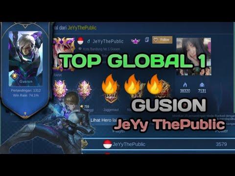 #9. TOP GLOBAL 1 GUSION (JeYy ThePublic) | ZEK AI•