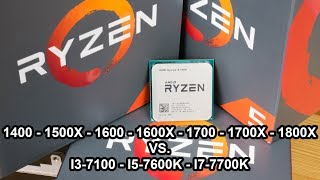 "In this video, I test every AMD Ryzen 5 and 7 processor and compare them to the Intel Kaby-Lake line-up in both gaming and synthetic benchmarks. Tests: wPrime, Cinebench, Adobe Premiere Pro, Far Cry Primal, The Witcher 3, DOOM, Battlefield 1, Civilization 6 and Streaming.Subscribe: https://goo.gl/mvLybvTwitter: https://goo.gl/PidWw8Facebook: https://goo.gl/uX86WuMerchandising: https://teespring.com/unicornreviewsPatreon : http://goo.gl/Z1T6tnPayPal support: https://goo.gl/1VEqfZWelcome to Unicorn Reviews, a channel where I review electronics and hardware with a strong focus on computer parts.Feel free to subscribe, it's free and my videos show up in your feed right away for that all important ""FIRST!!"" comment."