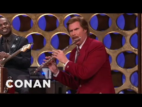 Conan - Ron Burgundy's Surprise Announcement