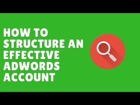 Watch 'Google Adwords: How To Structure An Effective Adwords Account - YouTube'