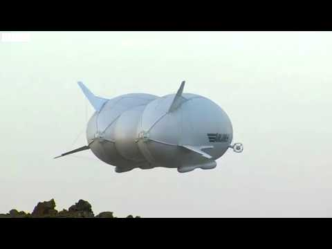 Hybrid air vehicles World s largest Airship Airlander Takes off for 1st