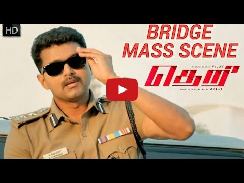 Theri Bridge Mass Scene  HD   Vijay, Samantha, Amy Jackson   Atlee   G V  HIGH