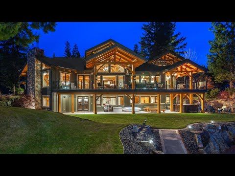 Timber Frame Luxury Estate   One Acre Lakefront Property