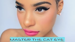 HOW TO : MASTER THE CAT EYE - YouTube