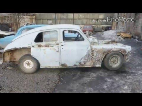 Реставрация и Установка Автомобиля Победа в ТЦ Palermo