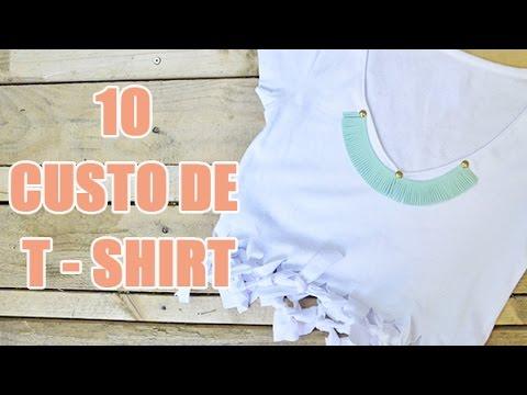 10 idées DIY de customisation de tee-shirt par YouMakeFashion - customisation de vêtements