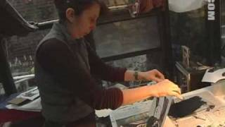 Madeline Sorel Making a Wood Cut
