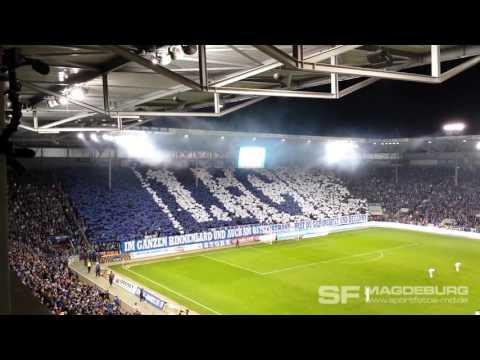Video: 1. FC Magdeburg gegen FC Erzgebirge Aue - Choreo Block U (HD Apr. 2016)