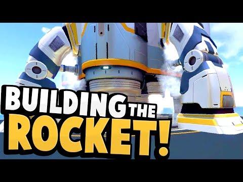 Subnautica - BUILDING THE SUBNAUTICA ROCKET! End Game Rocket Construction Gameplay & Updates! (видео)