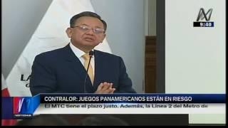 Contralor General advirtió que Panamericanos se encuentra en la fecha exacta para inicio de obras (Canal N)