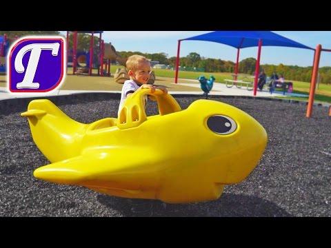Детская Площадка в Америке и Приключения Максима – влог играет видео для детей playing at playground (видео)