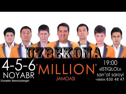 MILLION JAMOASI KONSERT DASTURI 2013 (видео)