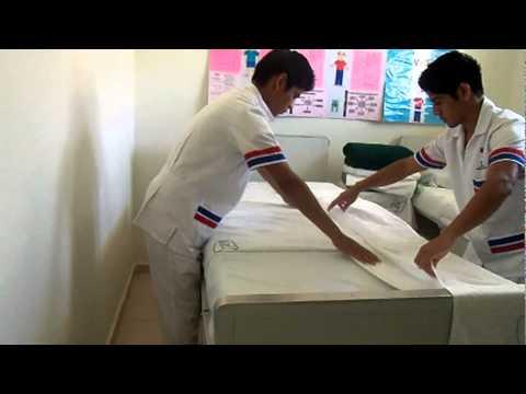 Tendido de cama Cama - cbtis 243 enfermeria tendido de camas parte 1.