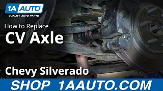 9. How To Install Replace Front Axle CV Joints 2007-13 Chevy Silverado GMC Sierra 1500