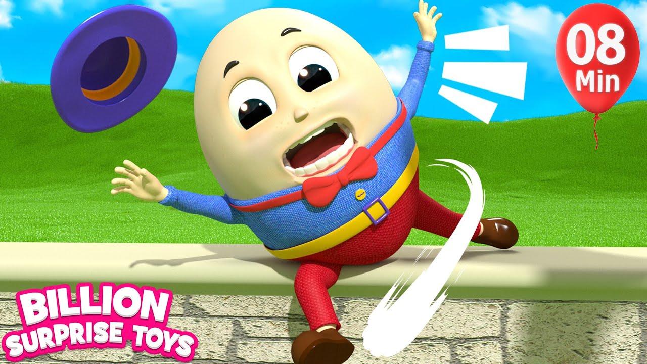 Humpty Dumpty Song 2 | + More Kids Songs | Billion Surprise Toys