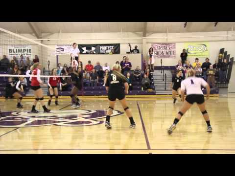 Bellevue volleyball defeats No. 13 Grand View - Oct. 16, 2012