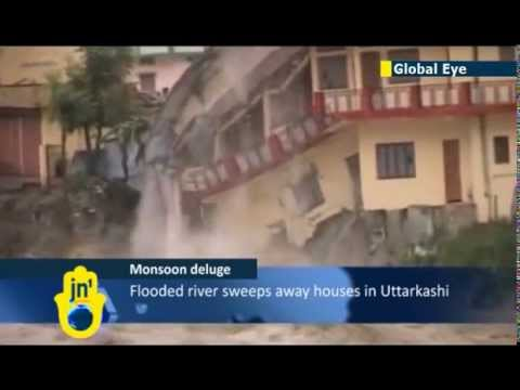 Indian - 36 continuous hours of rain hit northern India, resulting in the flooded river Ganga causing extensive damage to houses. The monsoon rains have covered the e...