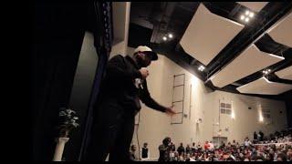 Eric Thomas speaks at Vashon High School in St. Louis, Missouri.